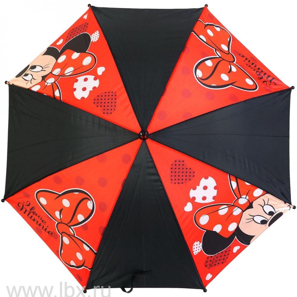 Minnie зонт полуавтомат 2S-48/8 ПЭ WD7613 красный Disney (Дисней)