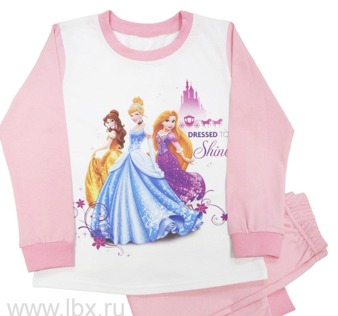 Пижама для девочки 107-ДПринцессы, МФ- увеличить фото