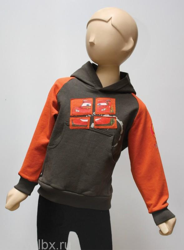 Джемпер для мальчика хаки / оранжевый рукав, МФ- увеличить фото