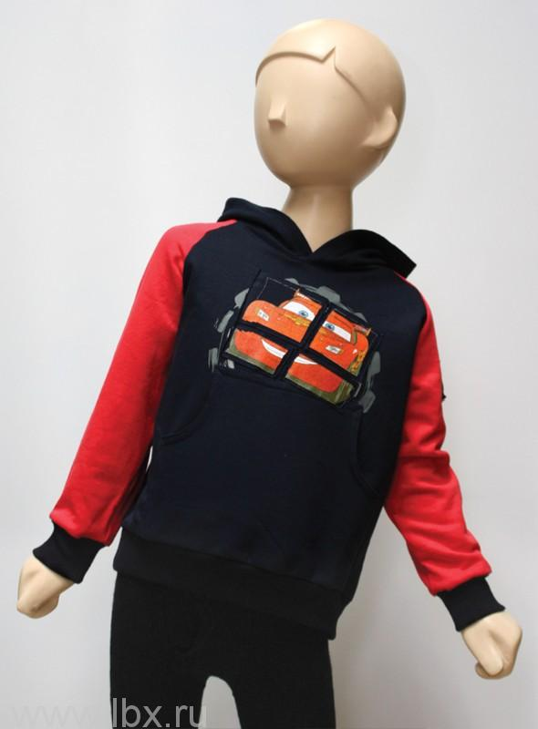 Джемпер для мальчика синий / красный рукав, МФ- увеличить фото