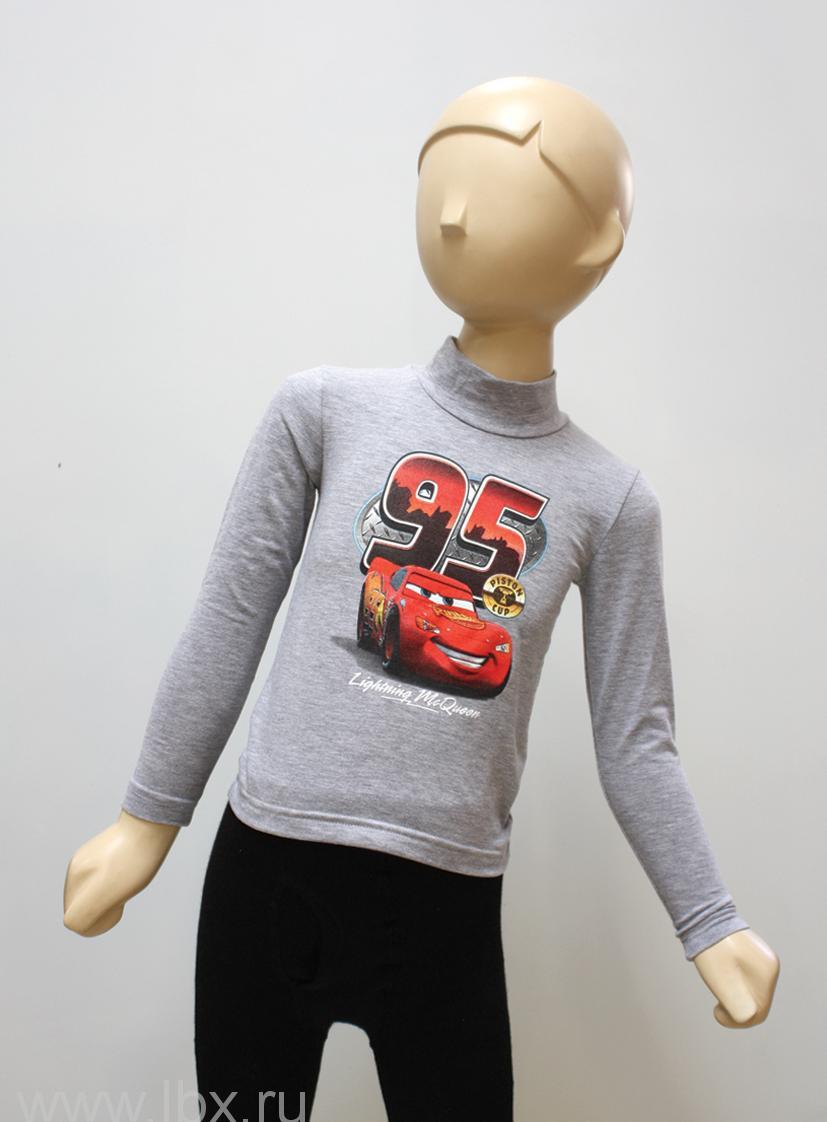 Детская водолазка с изображением `Тачки` серый, МФ
