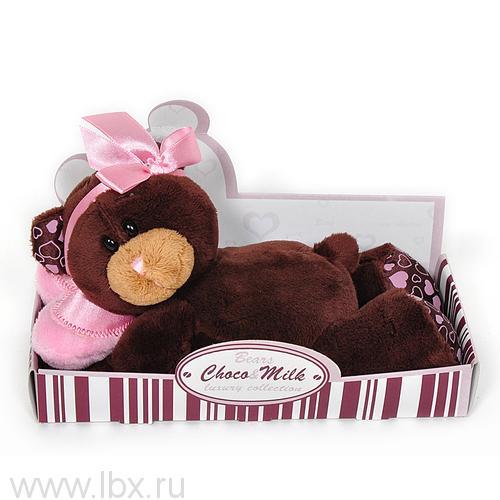 Мягкая игрушка Медведь девочка Milk лежебока 20 см, Choco&Milk (Чоко Милк)
