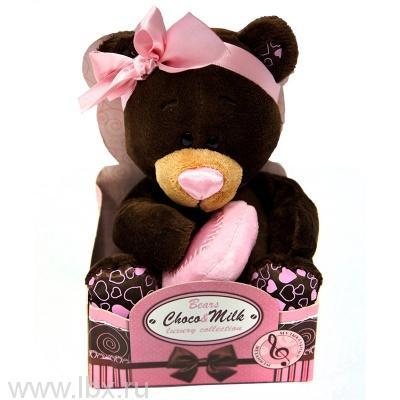 Мягкая игрушка Медведь девочка Milk c музыкальным механизмом 30 см, Choco&Milk (Чоко Милк)
