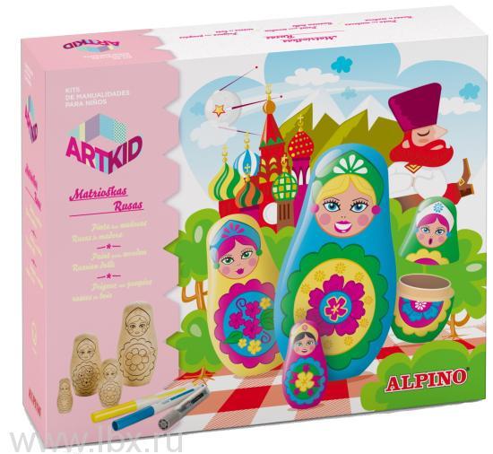 Набор для детского творчества `Русские матрёшки`, Alpino (Алпино)