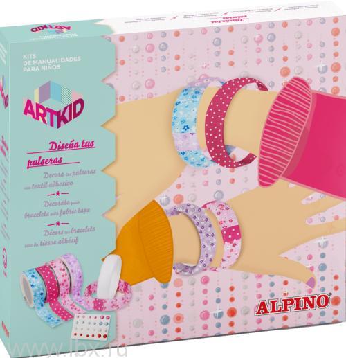 Набор для детского творчества `Стильные браслеты`, Alpino (Алпино)
