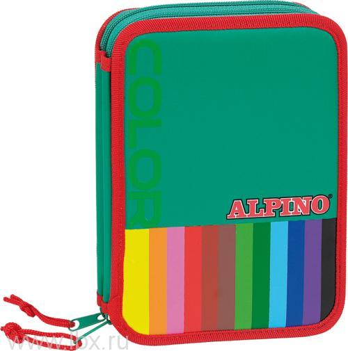 Пенал Color для школьников и студентов наполненный, Alpino (Алпино)