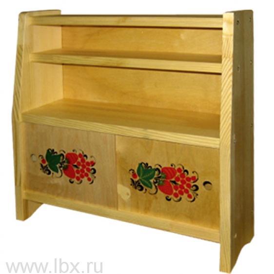 Буфет для кукол `Василек`, Хохломская роспись