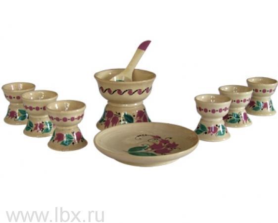 Набор посуды для кукол `Огонек`, Хохломская роспись