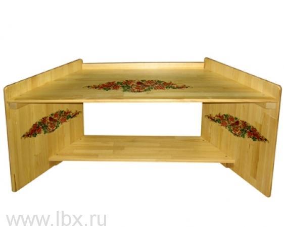 Угловой стол-парта `Зайка`, Хохломская роспись