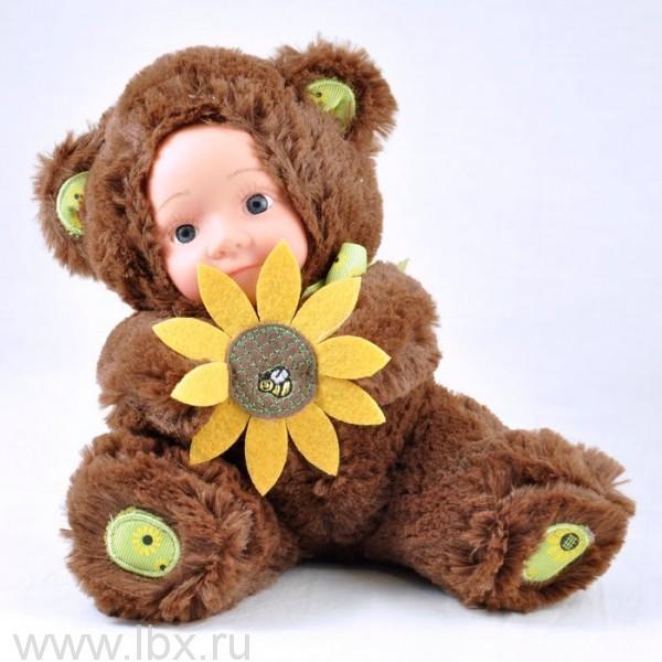 Кукла Anna De Wailly (Анна Де Вейли)   Медвежонок с цветочком 20см