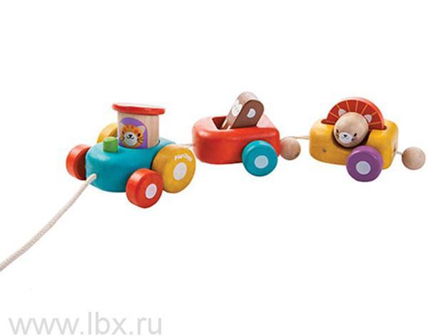 Паровозик Веселый двигатель, Plan Toys (План Тойз)