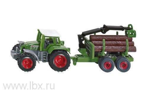 Трактор прицепом для бревен, Siku (Сику)