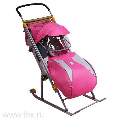 Санки-коляска Nika Kids `Ника Детям 3` (Розовый)