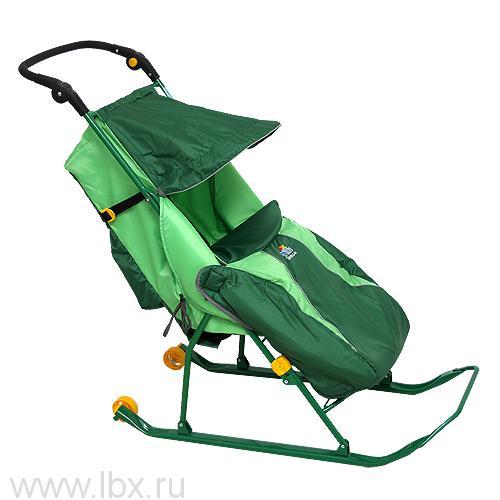 Санки-коляска Тимка `Тимка 2 Классик` (Зеленый), Ника