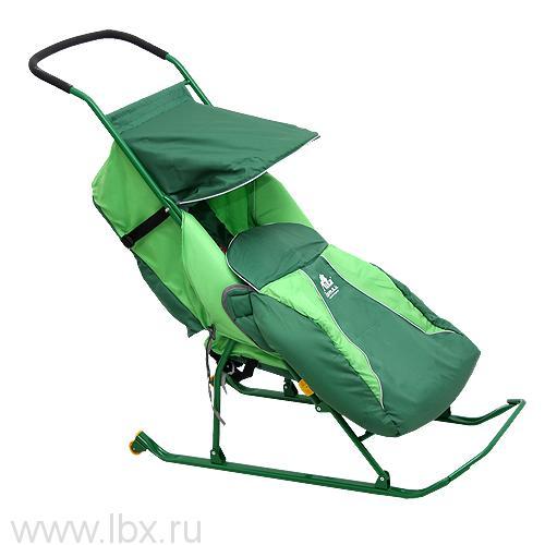 Санки-коляска Тимка `Тимка 2 Комфорт` (Зеленый), Ника