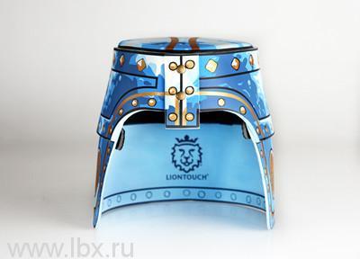 Синий шлем с коронованным золотым львом, Liontouch (Лионтач)