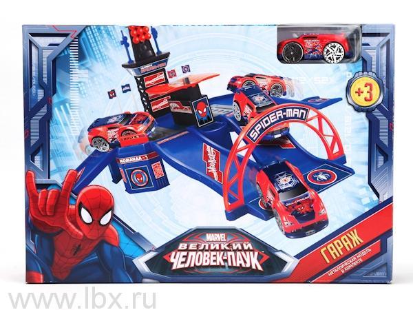 Игровой набор Гараж `Человек-паук` с машинкой, Marvel (Марвел)