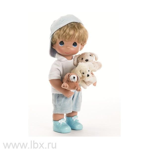 Кукла `Мальчик и щенки` 30 см, Precious Moments (Драгоценные Моменты)