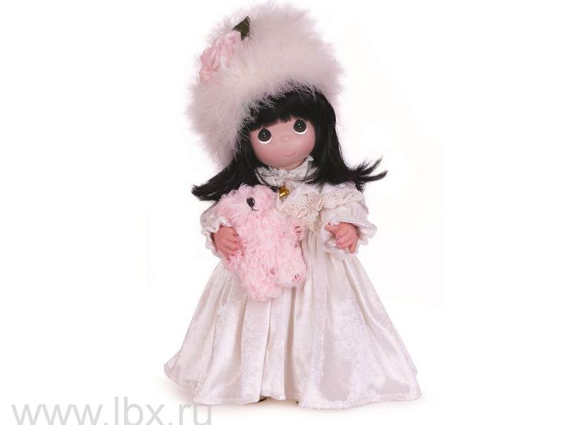Кукла Precious Moments (Драгоценные Моменты) с мишкой, 40 см