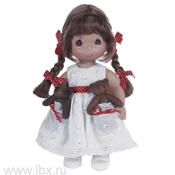 Кукла `Друзья в кармашке` брюнетка 30 см, Precious Moments (Драгоценные Моменты)