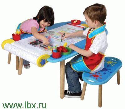 Стол для творчества и 2 банкетки Alex (Алекс)