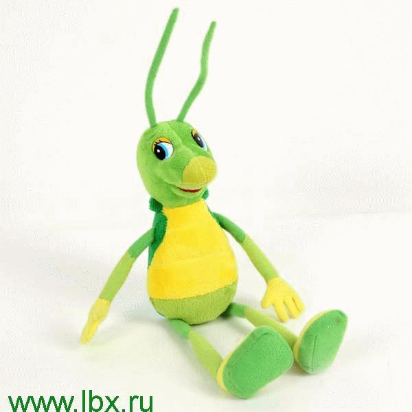 Кузнечик Кузя из м/ф `Лунтик и его друзья` 28 см Мульти-Пульти