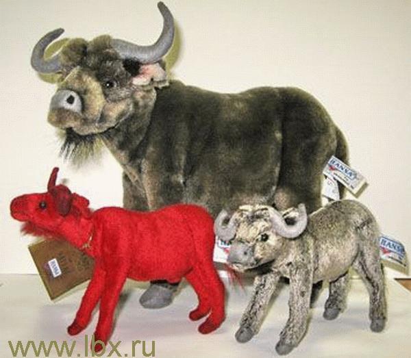 Игрушка от Hansa (Ханса) Бык красный 16 см
