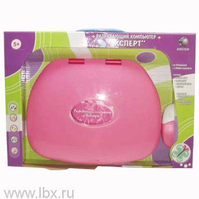 Компьютер `Эксперт` на батарейках с мышкой розовый Умка