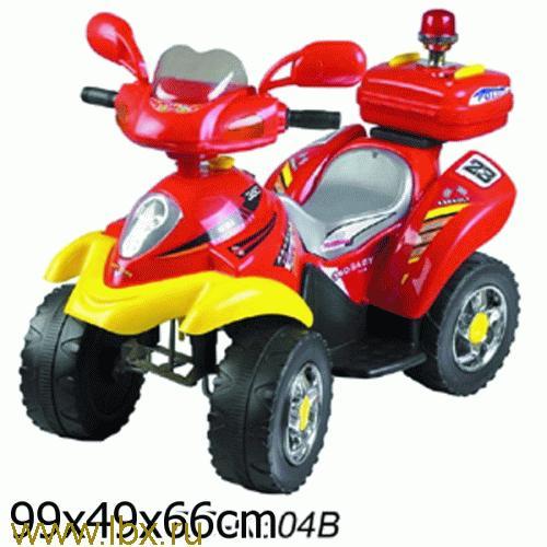 Квадроцикл Bugati (Бугати) с мигалкой (красный с желтым)