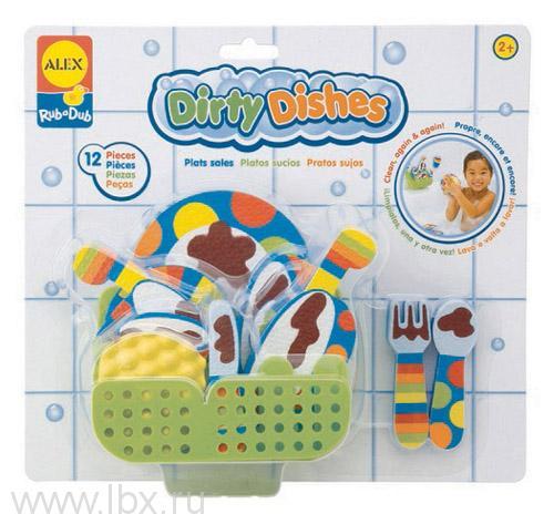 Игрушка для ванной `Вымой посуду` Alex (Алекс)