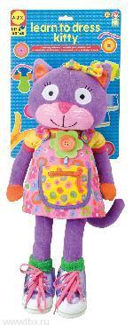 Развивающая игрушка `Учимся одеваться с котенком` Alex (Алекс)
