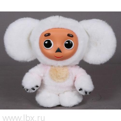 Мягкая игрушка `Чебурашка белый` с пластиковой мордочкой Мульти-Пульти