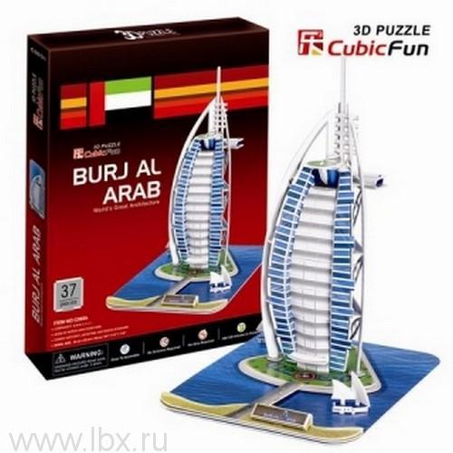 3D-пазл `Отель `Бурж эль Араб` (Дубаи)` CubicFun (КубикФан)