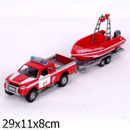 Набор `Пожарная служба` (машина, лодка) Технопарк