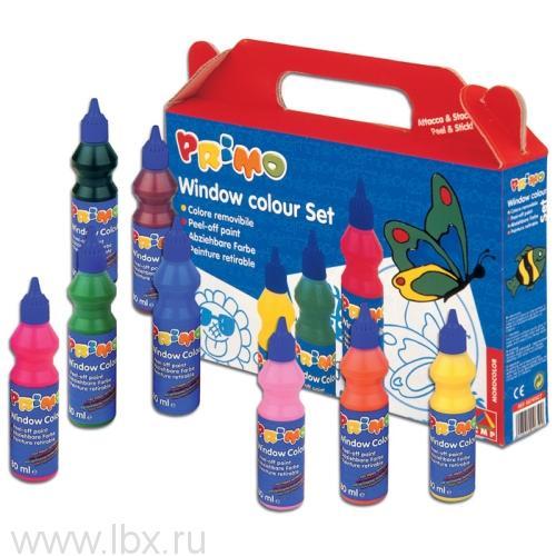 Набор Primo (Примо) (6 витражных красок, контур, трафарет)