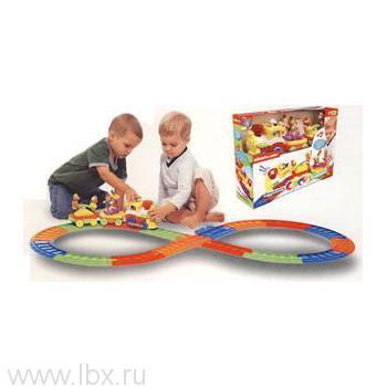 Развивающая игрушка `Железная дорога` Kiddieland (Киддилэнд)