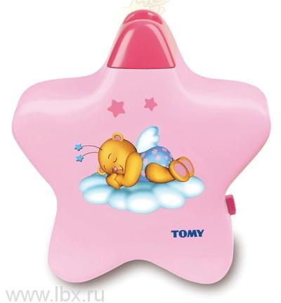 Ночник-проектор Розовая звездочка Tomy (Томи)