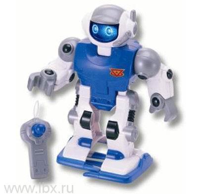 Робот синий, движущийся с пультом управления и световыми эффектами Keenway (Кинвей)
