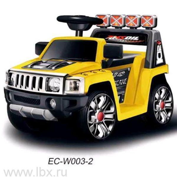 Электромобиль Bugati (Бугати) Land-Rover желтый