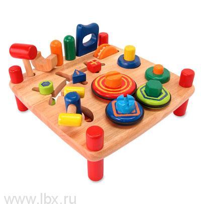 Стол развивающий, деревянный Im Toy (Ай эм той)