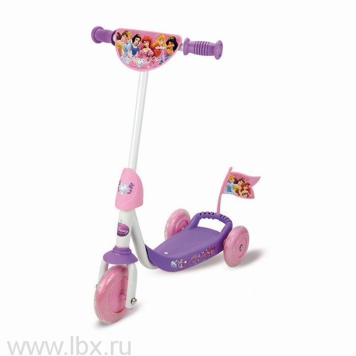 Детский трехколесный самокат Принцессы Disney Smoby (Смоби)