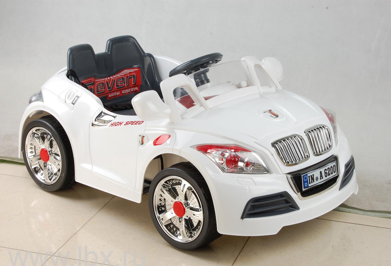 Детский электромобиль NeoTrike Cabrio B (Неотрайк Кабрио) белый с пультом радиоуправления