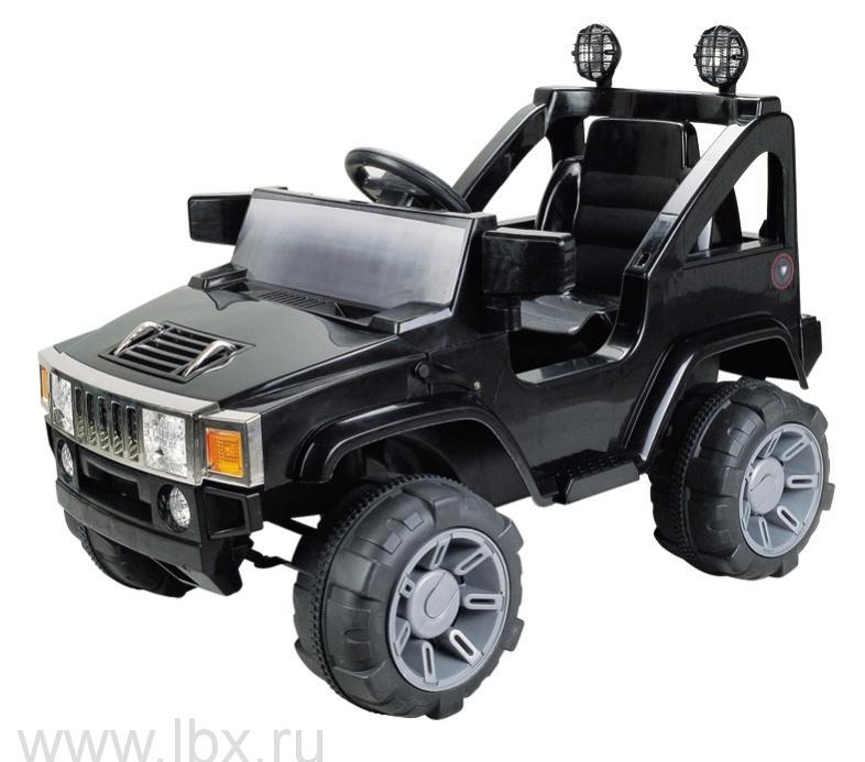 Детский электромобиль джип NeoTrike Commando (Неотрайк Коммандо) черный с пультом радиоуправления