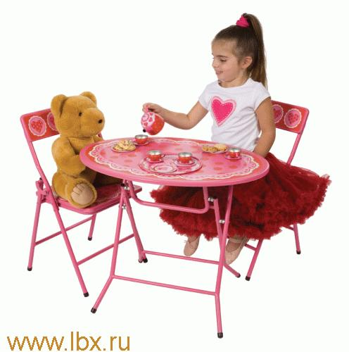 Набор детский столик и 2 стула `Сердце` Alex (Алекс)