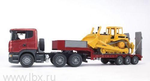 Тягач Scania с бульдозером  Bruder (Брудер)