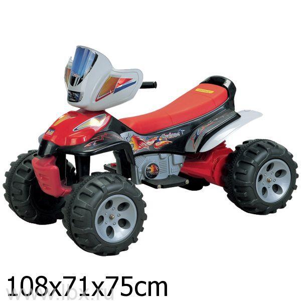 Детский электроквадроцикл Bugati (Бугати) красный