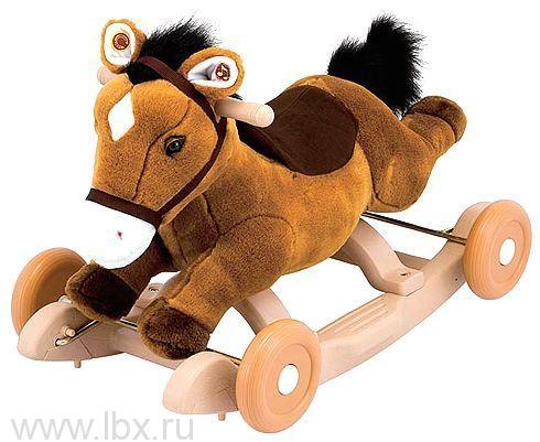 Каталка - качалка `Пони`, озвучена Kiddieland (Киддилэнд)
