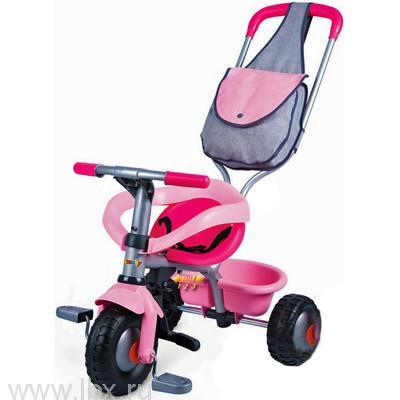 Трехколесный велосипед с сумкой `Voyager` розовый Smoby (Смоби)