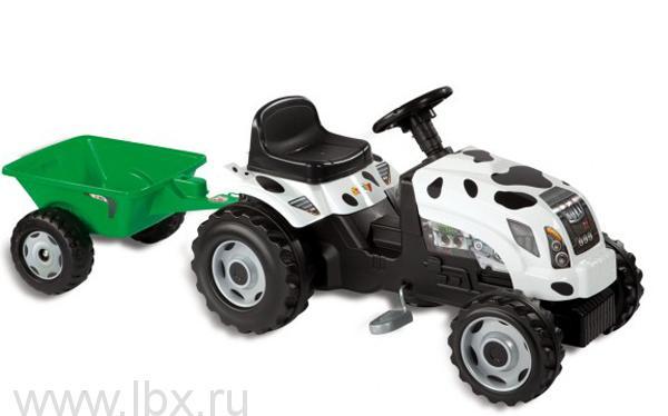 Трактор `GM Thme` с зеленым прицепом Smoby (Смоби)