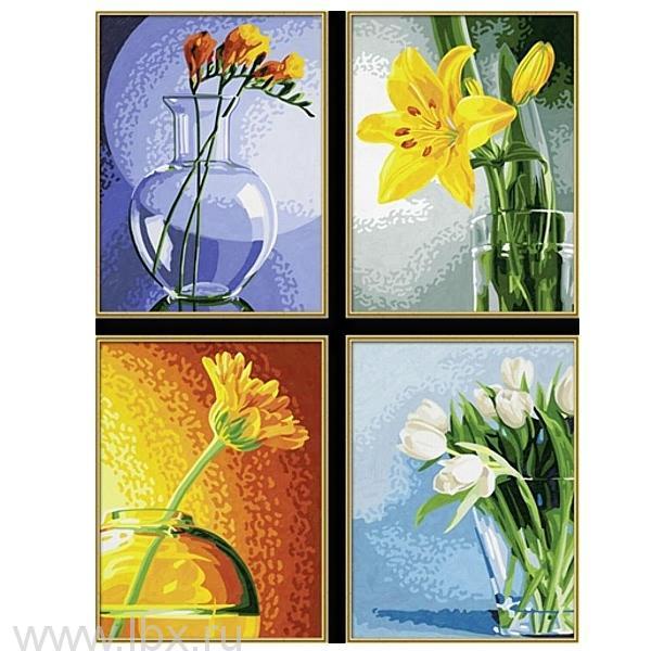 Цветы - картина для раскрашивания по номерам  от Schipper (Шиппер)